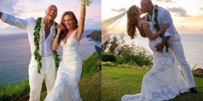 Dwayne Johnson Marries Girlfriend Of 12 Years Lauren Hashia in Hawali