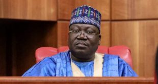Say it if we behave like Buhari's 'rubber stamp', Lawan tells Nigerians